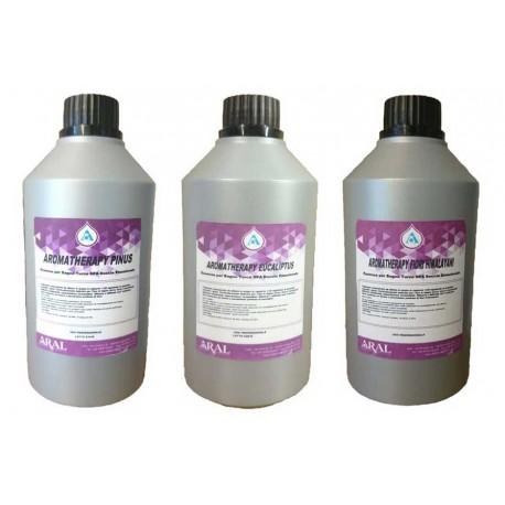Kit Tris Essenza Concentrata per Aromaterapia Sauna e Vaporizzatori in Barattoli 500 ml