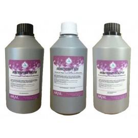 Tris Essenze 500 ml per Saune Aromatherapy e Bagno Turco a Eucalipto Oasi e Fiori Himalayani