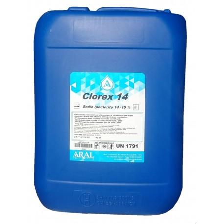 Clorex 14 Cloro Liquido per Disinfezione delle Acque Piscina Prodotto Italiano Aral