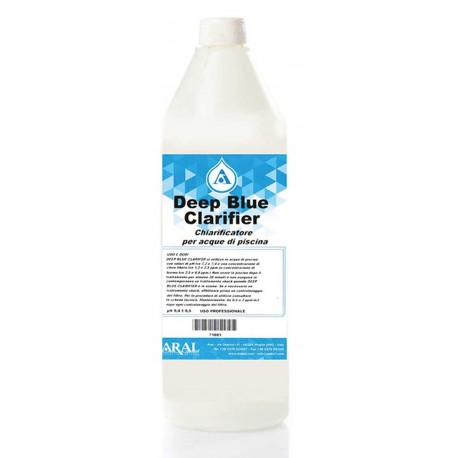 Deep Blue Clarifier Prodotto per Piscine Specifico per la Chiarificazione di Acque Opalescenti Bottiglia da 1Kg
