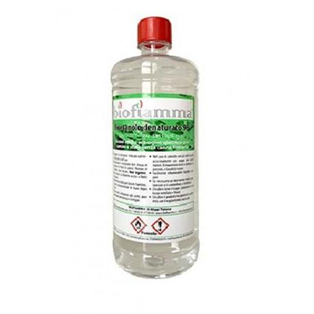Bottiglia 1 Litro Bioetanolo Biofiamma per Biocamini Prodotto Italiano
