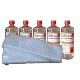 Kit Biocamino 5 Bottiglie 1 Lt di Bioetanolo + 2 Fibre Ceramiche