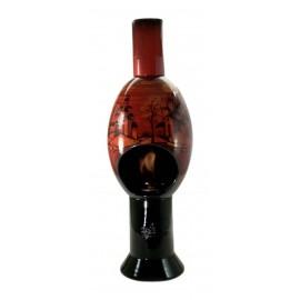 Uovo Camino in Ceramica a Bioetanolo Artigianale Italiano con Bruciatore Regolabile
