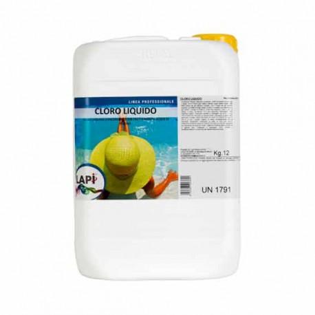 Cloro Liquido per Disinfezione della Piscina Uso Manuale o con Pompa Dosatrice