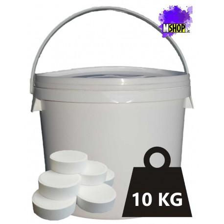 Tricloro 90% Pastiglie 500 gr Cloro per Disinfezione della Piscina a Lenta Dissoluzione