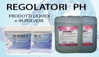 Regolatori PH liquidi e in polvere